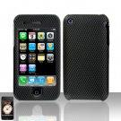 Hard Rubber Feel Design Case for Apple iPhone 3G/3Gs - Carbon Fiber