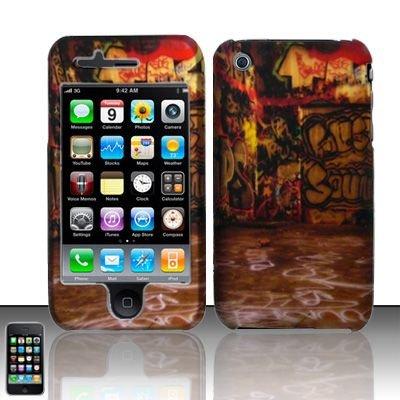 Hard Rubber Feel Design Case for Apple iPhone 3G/3Gs - Street Art