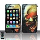 Hard Rubber Feel Design Case for Apple iPhone 3G/3Gs - Barbaric Skull