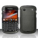 Hard Rubber Feel Design Case for Blackberry Bold Touch 9900/9930 - Carbon Fiber