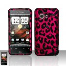 Hard Rubber Feel Design Case for HTC DROID Incredible (Verizon) - Pink Leopard