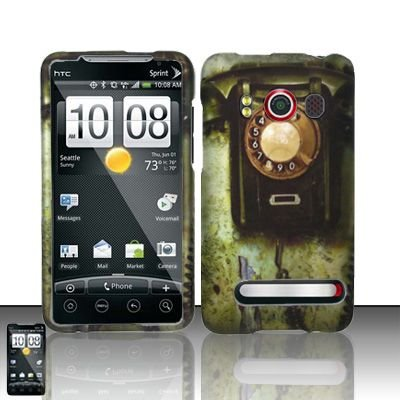Hard Rubber Feel Design Case for HTC EVO 4G (Sprint) - Telephone