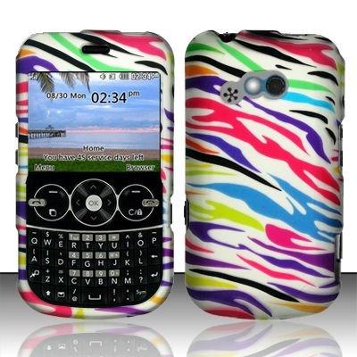 Hard Rubber Feel Design Case for LG 900g (StraightTalk) - Colorful Zebra