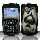 Hard Rubber Feel Design Case for LG 900g (StraightTalk) - Spade Skull