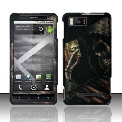Hard Rubber Feel Design Case for Motorola Droid X MB810 (Verizon)/Milestone X - Reaper's Game