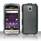 Hard Rubber Feel Design Case for LG Optimus M/C - Carbon Fiber
