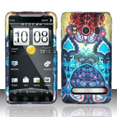 Hard Rubber Feel Design Case for HTC EVO 4G (Sprint) - Antique