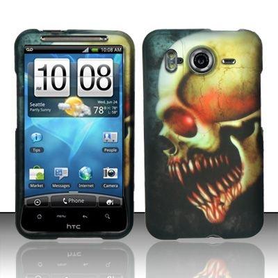 Hard Rubber Feel Design Case for HTC Inspire 4G/Desire HD - Barbaric Skull