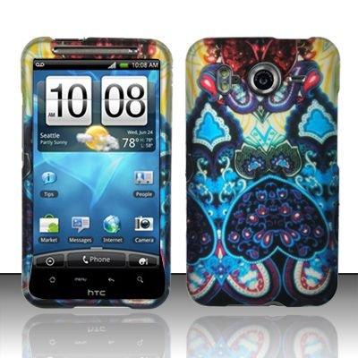 Hard Rubber Feel Design Case for HTC Inspire 4G/Desire HD - Antique