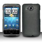Hard Rubber Feel Design Case for HTC Inspire 4G/Desire HD - Carbon Fiber