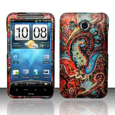 Hard Rubber Feel Design Case for HTC Inspire 4G/Desire HD - Enticing Peacock