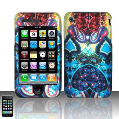 Hard Rubber Feel Design Case for Apple iPhone 3G/3Gs - Antique