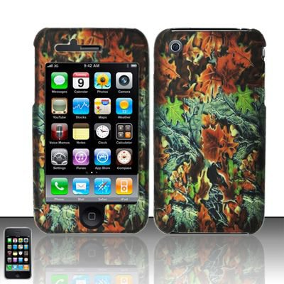 Hard Rubber Feel Design Case for Apple iPhone 3G/3Gs - Hunter