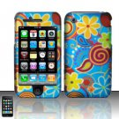 Hard Rubber Feel Design Case for Apple iPhone 3G/3Gs - Summer Flowers
