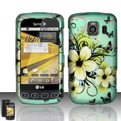 Hard Rubber Feel Design Case for LG Optimus S/U/V - Natural Flowers