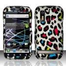Hard Rubber Feel Design Case for Motorola Photon 4G MB855 (Sprint) - Colorful Leopard