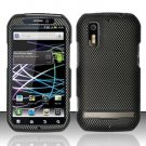 Hard Rubber Feel Design Case for Motorola Photon 4G MB855 (Sprint) - Carbon Fiber