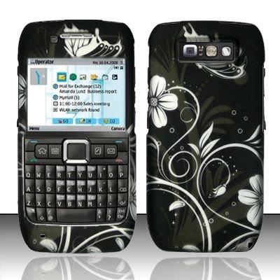 Hard Rubber Feel Design Case for Nokia E71 - Midnight Garden