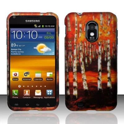 Hard Rubber Feel Design Case for Samsung Epic Touch 4G/Galaxy S2 (Sprint) - Autumn Forest