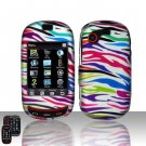 Hard Rubber Feel Design Case for Samsung Gravity Touch - Colorful Zebra