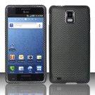 Hard Rubber Feel Design Case for Samsung Infuse 4G - Carbon Fiber