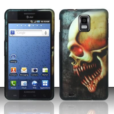 Hard Rubber Feel Design Case for Samsung Infuse 4G - Barbaric Skull