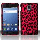 Hard Rubber Feel Design Case for Samsung Infuse 4G - Pink Leopard