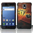 Hard Rubber Feel Design Case for Samsung Infuse 4G - Royal Cards