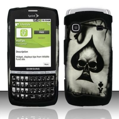 Hard Rubber Feel Design Case for Samsung Replenish M580 - Spade Skull