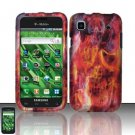 Hard Rubber Feel Design Case for Samsung Vibrant/Galaxy S T959 - Burning Skull