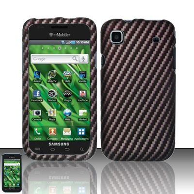 Hard Rubber Feel Design Case for Samsung Vibrant/Galaxy S T959 - Carbon Fiber V2