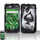 Hard Rubber Feel Design Case for Samsung Vibrant/Galaxy S T959 - Spade Skull