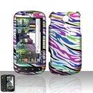 Hard Rubber Feel Design Case for Samsung Epic 4G (Sprint) - Colorful Zebra
