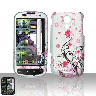 Hard Rubber Feel Design Case for Samsung Epic 4G (Sprint) - Pink Garden