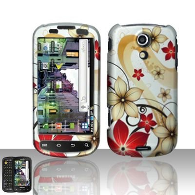 Hard Rubber Feel Design Case for Samsung Epic 4G (Sprint) - Red Flowers
