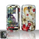 Hard Rubber Feel Design Case for Samsung Epic 4G (Sprint) - Red Flowers