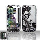 Hard Rubber Feel Design Case for Samsung Epic 4G (Sprint) - Black Vines