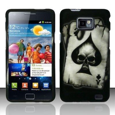 Hard Rubber Feel Design Case for Samsung Galaxy S II i777/i9100 (AT&T) - Spade Skull