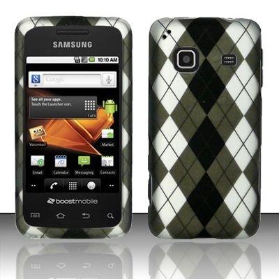 Hard Rubber Feel Design Case for Samsung Galaxy Prevail - Argyle