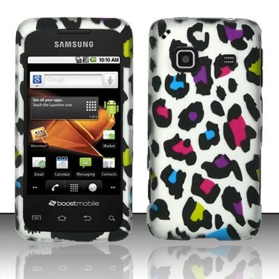 Hard Rubber Feel Design Case for Samsung Galaxy Prevail - Colorful Leopard