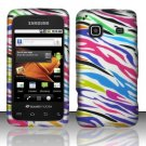 Hard Rubber Feel Design Case for Samsung Galaxy Prevail - Colorful Zebra