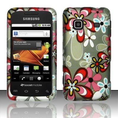 Hard Rubber Feel Design Case for Samsung Galaxy Prevail - Autumn Flowers