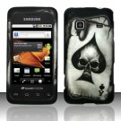 Hard Rubber Feel Design Case for Samsung Galaxy Prevail - Spade Skull