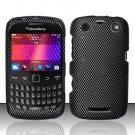 Hard Rubber Feel Design Case for Blackberry Curve 9360/9370 - Carbon Fiber