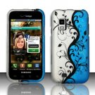 Hard Rubber Feel Design Case for Samsung Fascinate - Blue Vines