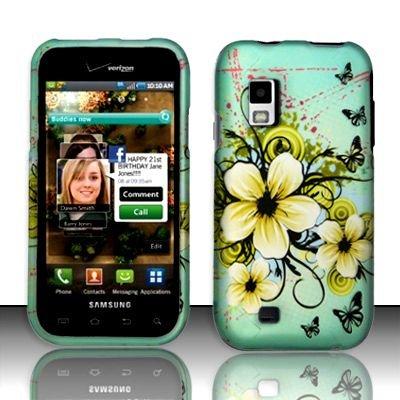 Hard Rubber Feel Design Case for Samsung Fascinate - Natural Flowers