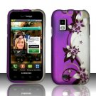 Hard Rubber Feel Design Case for Samsung Fascinate - Purple Vines