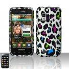 Hard Rubber Feel Design Case for Samsung Fascinate - Colorful Leopard