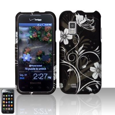 Hard Rubber Feel Design Case for Samsung Fascinate - Midnight Garden