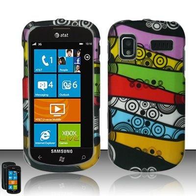 Hard Rubber Feel Design Case for Samsung Focus - Colorful Stripes